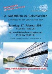 Programmheft der 2. Wohlfühlmesse Gelsenkirchen am 27.02.2011