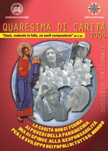 Libretto Quaresima 2006 - Caritas Diocesana di Palermo