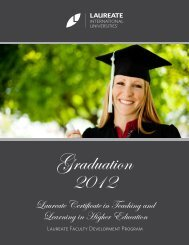 Laureate Certificate in Teaching and Learning in ... - My Laureate