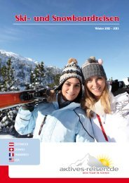 Katalogseite Sportclub Scuol - Winter 2012 - 2013 - Aktives Reisen