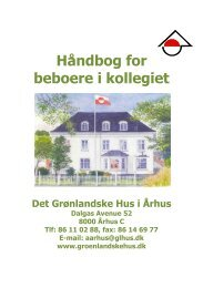 Håndbog for beboere i kollegiet - De grønlandske huse i Danmark