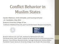 Conflict Behavior in Muslim States - Syracuse University