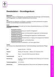 Deeskalation – Grundlagenkurs - Stiftung kreuznacher diakonie