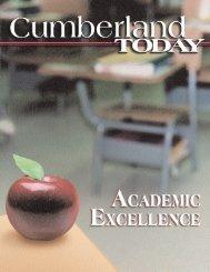 Cumberland Today-Winter 02 - University of the Cumberlands