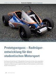 Radträger- entwicklung für den studentischen Motorsport - racetech