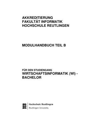 wi - Fakultät Informatik - Hochschule Reutlingen