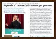 İlköğretime BT dersleri güncellenerek geri getirilmeli - Bilişim Dergisi