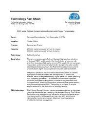 FCFC using Polimeri Europa/Lummus Cumene and Phenol - CB&I