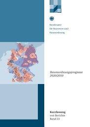 Raumordnungsprognose 2020/2050 Kurzfassung - Regierung der ...