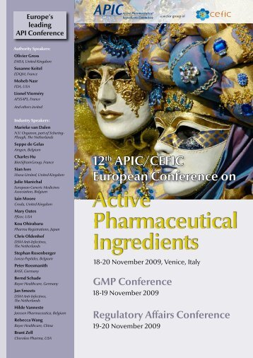 12th APIC/CEFIC European Conference on - Active Pharmaceutical ...