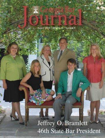 Jeffrey O. Bramlett 46th State Bar President - Arnall Golden Gregory ...