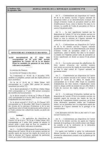 Rapport annuel de l'activité minière - Ministère de l'énergie et des ...