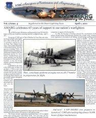 April Supplement - Davis-Monthan Air Force Base