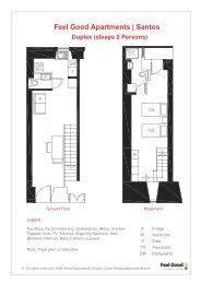 Santos Duplex (sleeps 2 Persons) - Feel Good | Apartments & Hotels