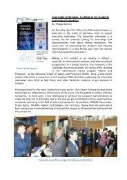 Internship Icebreaker: A platform for students and optical ... - OSA