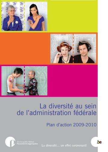 Dépliant Plan d'action Diversité F - Fedweb