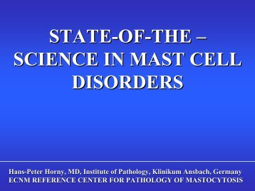 State-of-the-science in mast cell disorders HORNY