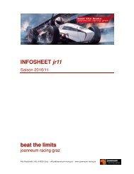 INFOSHEET jr11 beat the limits - joanneum racing