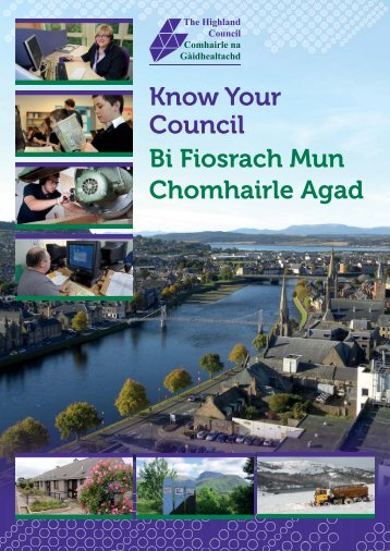 Know Your Council booklet - The Highland Council