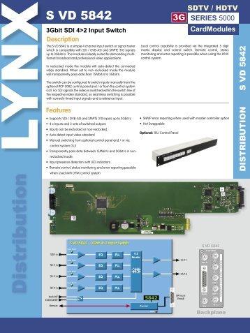 S VD 5842 Rev 1.2.indd - LYNX Technik AG