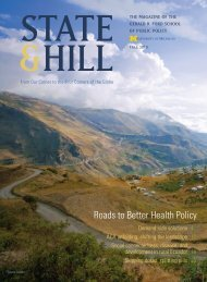 Roads to Better Health Policy - Gerald R. Ford School of Public Policy