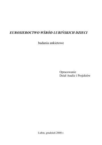eurosieroctwo wśród lubińskich dzieci - Miejski Ośrodek Pomocy ...