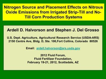 Nitrogen Source and Placement Effects on Nitrous Oxide Emissions ...