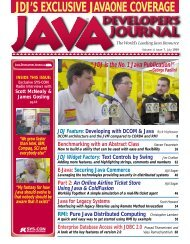 JAVA Vol 4 Issue7 - sys-con.com's archive of magazines
