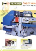 double side planer - Woodtech - Page 2