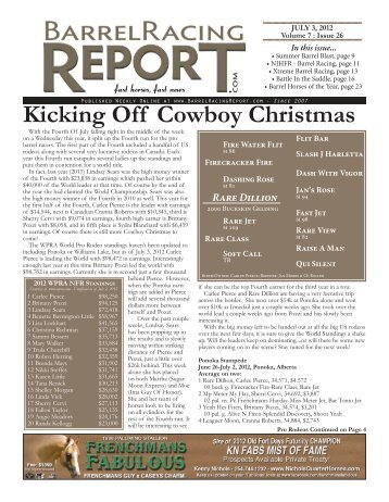 Kicking Off Cowboy Christmas - Barrel Racing Report