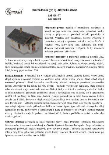Strážní domek (typ 3) - Návod ke stavbě - ITvlaky.cz