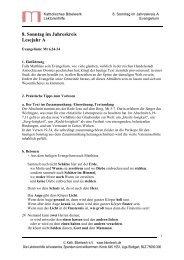 8. Sonntag im Jahreskreis Lesejahr A - Katholisches Bibelwerk