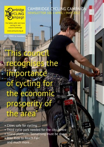 This council recognises the importance - Cambridge Cycling ...