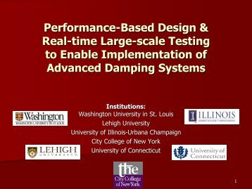 Performance-Based Design & Real-time Large-scale ... - NEES