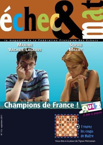 Télécharger le N° 33 - Fédération Française des Échecs