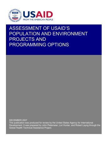 Assessment of USAID's - Environmental Health at USAID