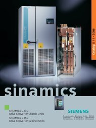 Siemens Sinamics G130/G150 - MEYER Industrie-Electronic GmbH
