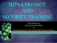 HIPPA Privacy and Security Training - Office of Management and ...