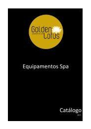 Catálogo 2013 Equipamentos Spa - Golden Lotus