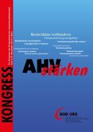 Broschüre: AHVstärken! - SGB