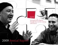 CUCS 2009 Annual Report - Center for Urban Community Services