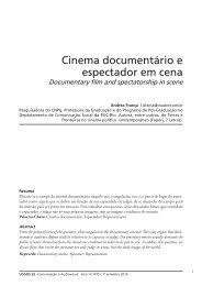 Cinema documentário e espectador em cena - Logos