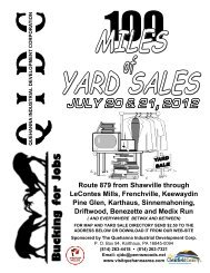 100 miles of yard sales directory - Visit The Quehanna Area