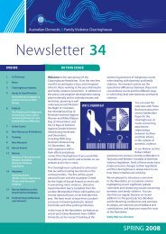 Newsletter 34 - Australian Domestic and Family Violence Clearing ...
