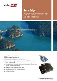 ZigBee Produkte für drahtlose Kommunikation Datenblatt - SolarEdge