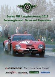Reglement Dunlop FHR Langstreckencup 2012