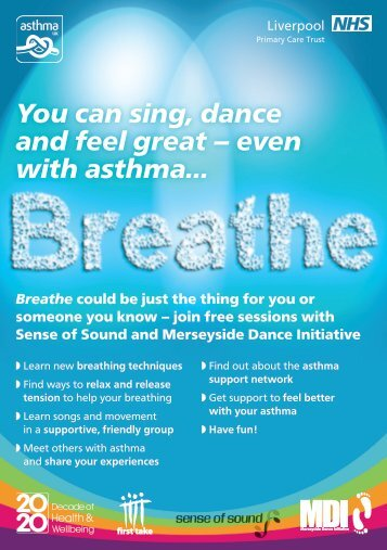 You can sing, dance and feel great – even with asthma…