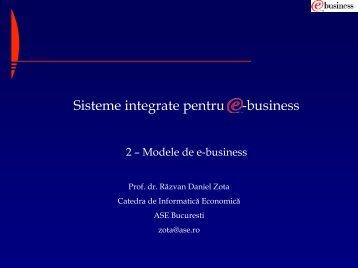 Modele de eBusiness - Prof. dr. Razvan Daniel ZOTA