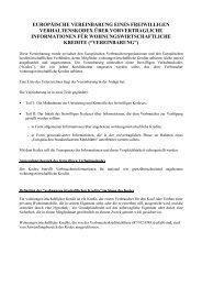 Originaltext der europäischen Vereinbarung - Deutscher Ring