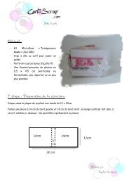 Matériel : 1° étape : Préparation de la structure - CartoScrap